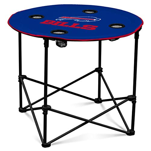 Buffalo Bills  Collapsible Round Table with 4 Cup Holders and Carry Bag ()