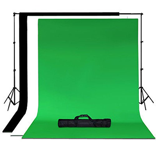 Lusana Studio Chroma Key 6 x 9 Green Black White Backdrop stand Kit Photography by Gogad