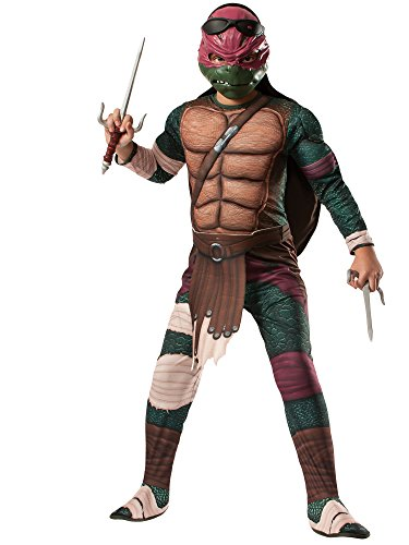 Rubies Teenage Mutant Ninja Turtles Deluxe Muscle-Chest Raphael Costume, Child Medium -