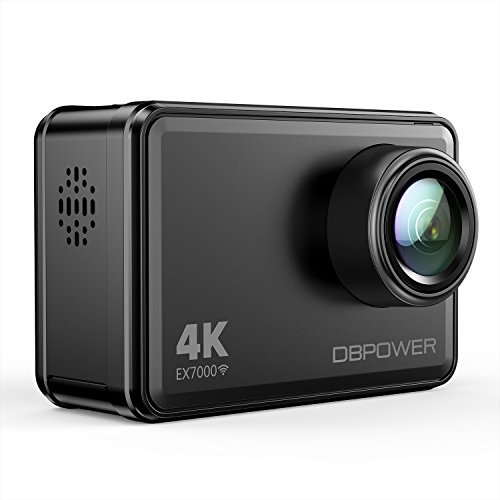 DBPOWER EX7000 Sports Action Camera 4K, 14MP Touchscreen Waterproof Camera 170 Degree Wide Angle 2.4G Remote Control and Accessories Kit by DBPOWER
