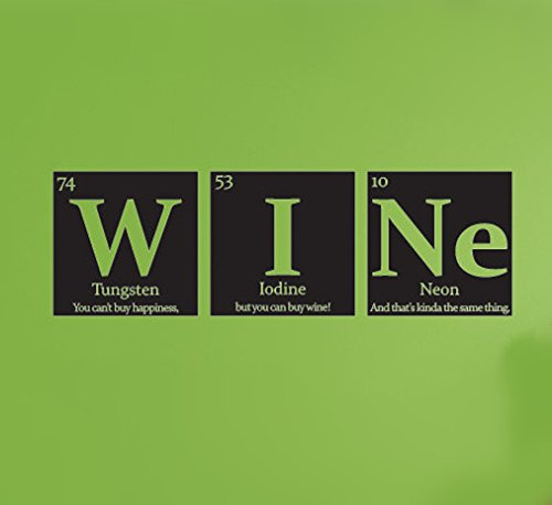 Monte Carlo Wine - YINGKAI WINE Science Periodic Table Elements Vinyl Wall Art Decal Living Room Home Schools Offices Vinyl Carving Wall Decal Sticker for Home Window Decoration