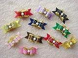 FidgetFidget Hair Bow Ribbon 5500 Dog cat Puppy Wholesale Lots of Headdress Flower Pets Gift