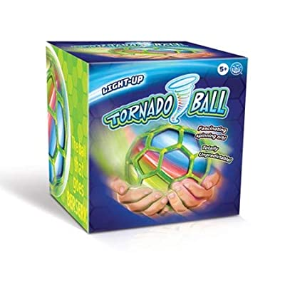 """Play Visions Shaking, Spinning, Vibrating, and Sensory 4"""" Light Up Tornado Ball - Off Weighted Mechanism Inside Makes It Totally Unpredictable - Watch It Jump and Turn and Go Crazy All Over The Floor: Sports & Outdoors"""