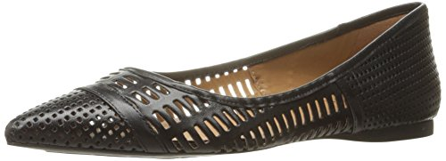 French Sole FS/NY Women's Vivid Pointed Toe Flat, Black Leather, 8.5 M US by French Sole FS/NY