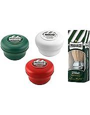 Proraso scheerkwast + Proraso scheerzeep 3x 150 ml Proraso bereik groen/rood/wit