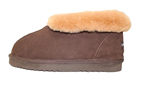 Furfurmouton Women's Slippers Booties Australian Sheepskin E809 (10, (Australian Sheepskin Bootie)