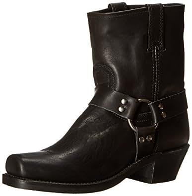 FRYE Women's Harness 8R Boot, Black, 5.5 M US