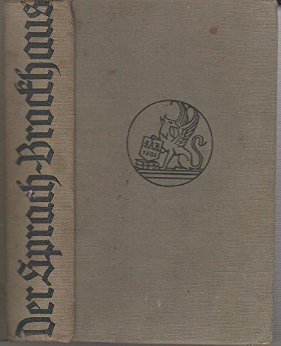 Der Sprach Brockhaus  Deutsches Bilderwörterbuch für jedermann