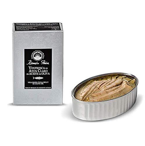 Ortiz Ventresca Tuna - Ramon Pena. Yellowfin Tuna Belly (Ventresca) in Olive Oil