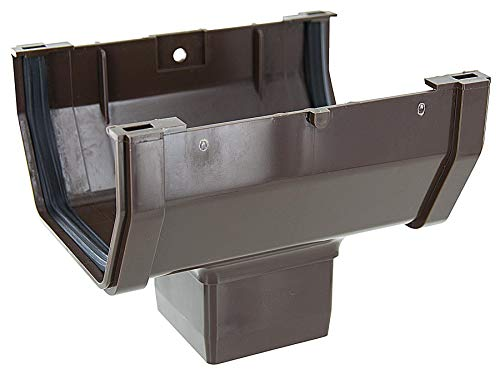GENOVA PRODUCTS RB104 Gutter Drop Outlet, Brown