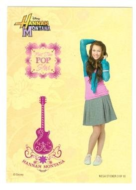 Miley Cyrus trading card Sticker (Hannah Montana) Topps #3