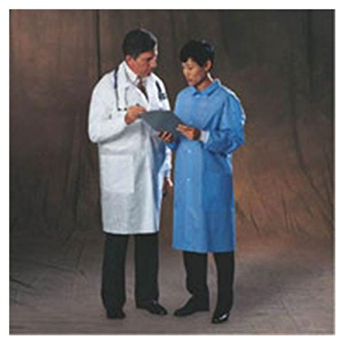 WP000-10121 10121 10121 Coat Basic Lab White Two Pocket Med Disposable 25/Ca Kimberly Clark Healthcare
