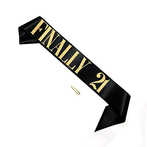 21st Birthday Sashes - 21st Birthday Sash, Finally 21 Birthday