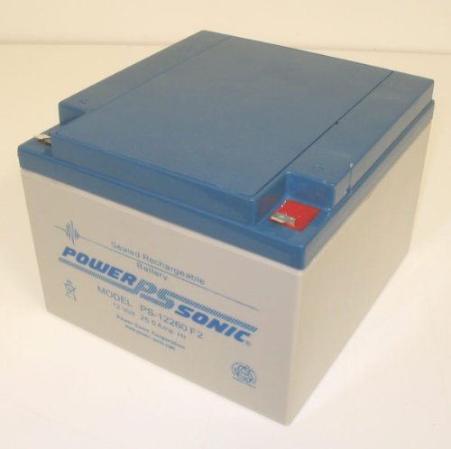 Powersonic PS-12260F2 12V, 26AH Rechargeable Lead Acid Battery with Fasten Terminal by Powersonic