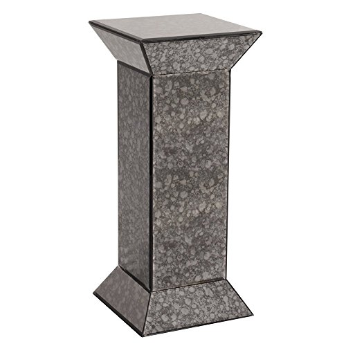 Howard Elliott 99005 Atlas Antique Mirrored Pedestal, Grey