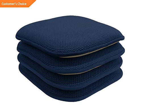Werrox 4 Pack: Non Slip Honeycomb Premium Memory Foam Chair Cushions - Assorted Colors | Model CHRCSHN - 41 | (Furniture Acapulco)