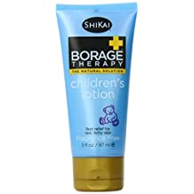 ShiKai Borage Therapy - Natural Dry Skin Children's Lotion, Effective for Cradle Cap, Eczema and Itchy Skin (Fragrance-Free, 3 Ounces) by ShiKai
