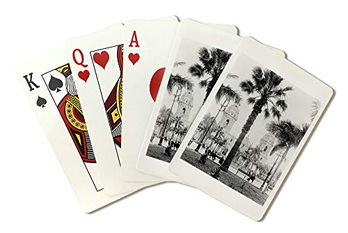 Cathedral in the Plaza de Armas in Peru - Vintage Photograph (Playing Card Deck - 52 Card Poker Size with Jokers)