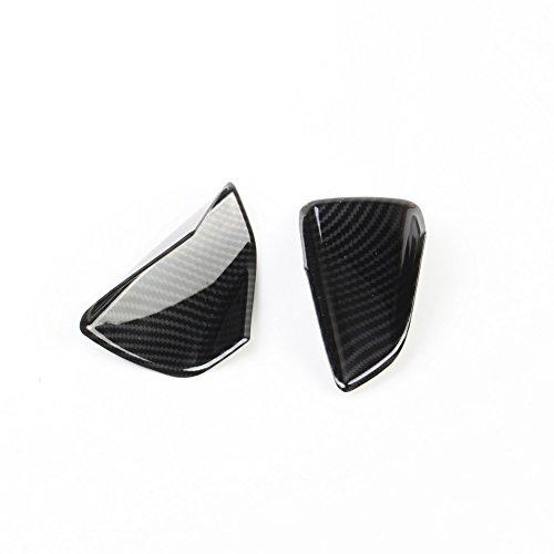 Justautotrim Carbon fiber look Cover trims Accessories Body Door Handle Bowl Moulding for 2014 2015 2016 2017 2018 Chevrolet Corvette C7