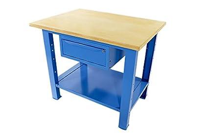 Banco Da Lavoro Robusto : Banco da lavoro l mt con piano in legno cassetto singolo