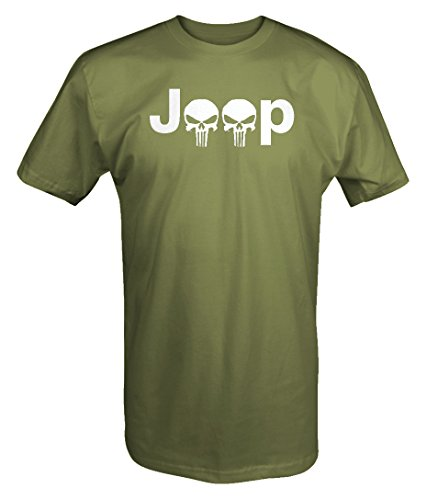 Jeep Logo with Punisher Skulls - 4x4 Outdoor - T Shirt - Xlarge