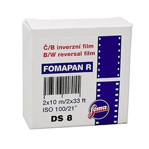 Foma Fomapan R100 Black & White Reversal Film Double Super 8, 10 - Black & Enlarger White