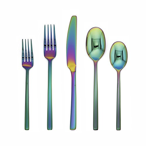 (Cambridge Silversmiths 288320CAMRM12R Beacon Rainbow Mirror 20 Piece Flatware Set)