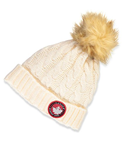 Canada Weather Gear Cable Knit Beanie - Ivory, One Size