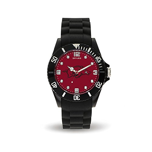 NCAA Arkansas Razorbacks Spirit Watch, Black - Arkansas Razorbacks Clock