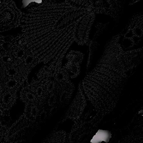 Uni Trompette Shirt Shirts Rond Femme Printemps Manche Chemise Blouse Jeune Chemisier Top Elgante Chic Dentelle Confortable Longues Creux Schwarz Mode Bouffant Manches Casual Manches Haut Col qP6r7wHq