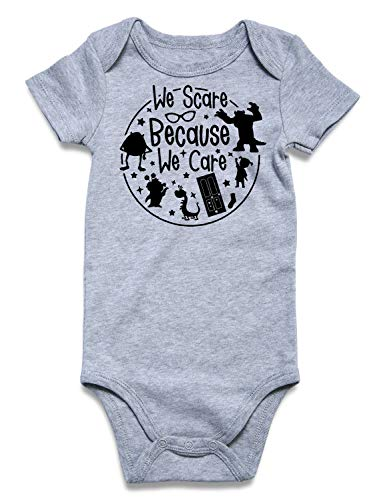 6-12 Months Fall Romper Unisex Baby Novelty Letter Design US Onesie Casual Cotton Outfits for Back Home Vocation Holiday Outside Birthday, We Scare Because We Care