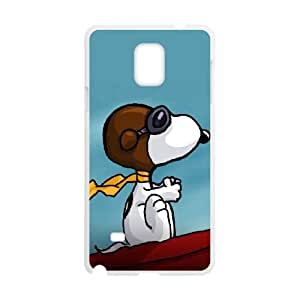 Samsung Galaxy Note 4 Cell Phone Case White Charlie Brown and Snoopy XPT Gel Cell Phone Cases