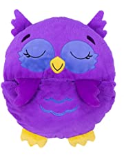 """Happy Nappers Pillow & Sleepy Sack - Comfy, Cozy, Compact, Super Soft, Warm, All Season, Sleeping Bag with Pillow - Medium 54"""" x 20"""" - Chestnut The Purple Owl"""