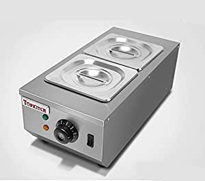 Huanyu Commercial Chocolate Tempering Machine Chocolate Melter with 2 Melting Pots Double Cylinder Hot Chocolate Melting Machine (220V)
