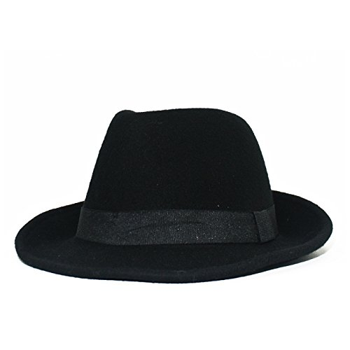 Ladies Felt Fedora HAT (BLACK)