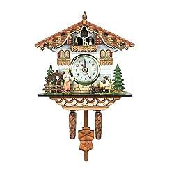 YAYONG Vintage Decorative Clock Hanging Wood Cuckoo Clock Farmhouse Home Décor