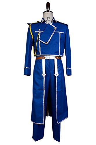 [NoveltyBoy Boy's Blue Suit Fullmetal Alchemist Cosplay Roy Mustang Top Pants Gloves Outfit Suit Uniform Costume] (Seven Deadly Sins Lust Costumes)