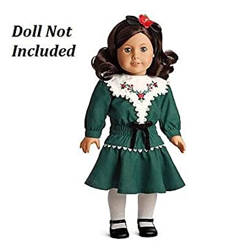 American Girl Ruthie's Green Holiday Dress