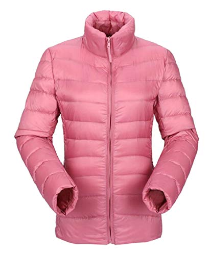 Down Jacket Pink Women's Outdoor Down Puffer Gocgt Packable Coats wFTn1