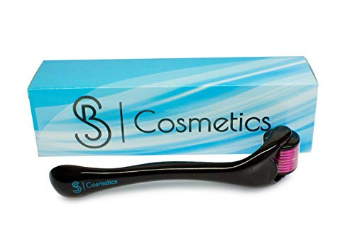 Derma Roller Cosmetic Needling Kit for Face, 540 Titanium .25mm Micro Needles, Includes Free Storage Case