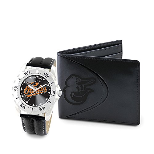 Game Time GTW-MLB-WWS-BAL Baltimore Orioles MLB Mens Watch & Wallet Set