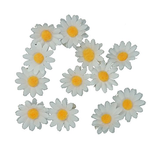 Scout Accessory - [12 Packed] Girls Sweet Daisy Hairpin Side Bridesmaid Hair Clip Beach Wedding Flower Hair Accessory