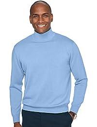 Men's Pima Cotton Mock Neck Sweater