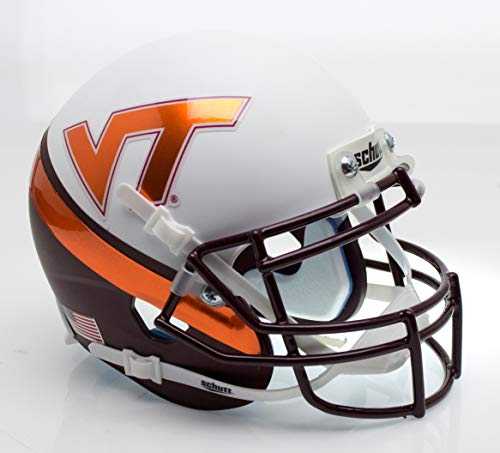 (Schutt NCAA Virginia Tech Hokies Mini Authentic XP Football Helmet, Wedge Alt. 8)