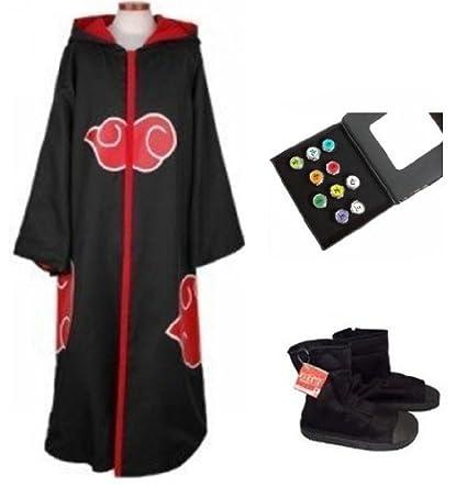 Sunkee Naruto Cosplay Akatsuki Ninja Traje - Capa con ...