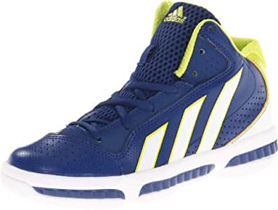 adidas Flight Path Basketball Sneaker,Dark Blue/Running White/Lab Lime,10.5 M US Little Kid