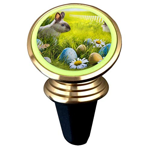 Happy Easter Rabbit Eggs Magnetic Phone Car Mount, 360 Rotation Car Phone Holder for Dashboard Cell Phone Cradle Mount for iPhone Xs Max XR X 8 7 Plus Galaxy S9 S8 Plus Note 9 8 and More
