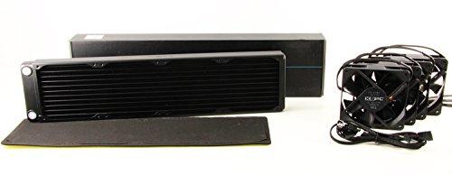 XSPC EX480 Copper Quad-Fan Radiator - Black Combo Pack by XSPC