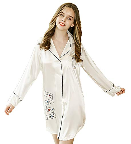 La white Da Casa Hxp Camicie Per Donna Da Pigiama Notte nazfpzq6w0