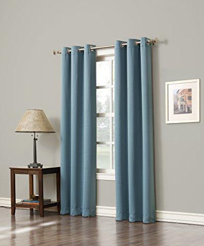 Sun Zero Easton Blackout Energy Efficient Curtain Panel, 40